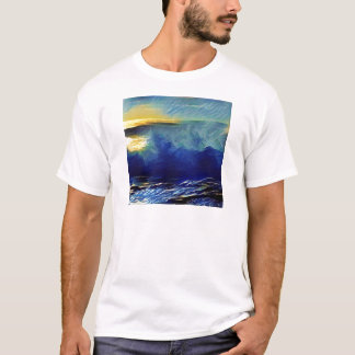 Sonnenuntergang-Brandung Makaha T-Shirt