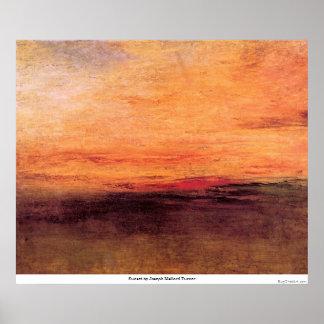 Sonnenuntergang durch Joseph Mallord Turner Poster