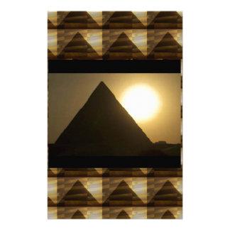 Sonnenuntergang durch PYRAMIDEN von Ägypten: Briefpapier