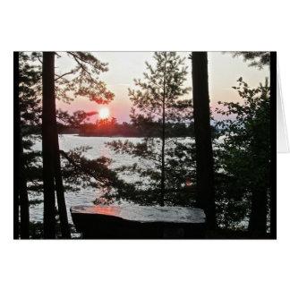 Sonnenuntergang ein Ort der Erholungs-Gruß-Karten Karte