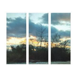 Sonnenuntergang-Fahrt #1 Leinwanddruck