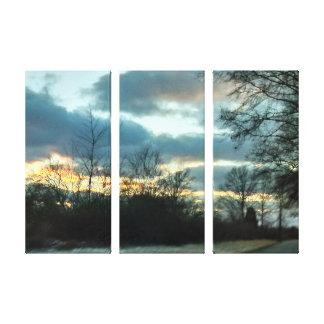 Sonnenuntergang-Fahrt # 2 Leinwanddruck