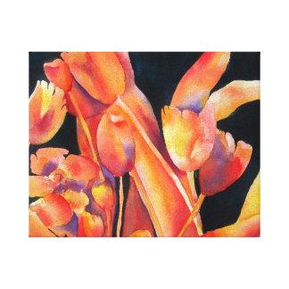 Sonnenuntergang-FarbLeinwand Galerie Falt Leinwand