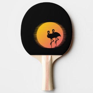Sonnenuntergang-Flamingo-Ruhe Tischtennis Schläger