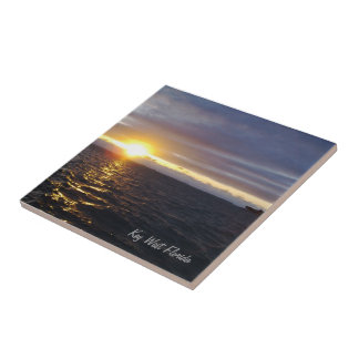 Sonnenuntergang-Fliese Key Wests Florida Kleine Quadratische Fliese