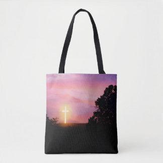 Sonnenuntergang-glühende Tasche