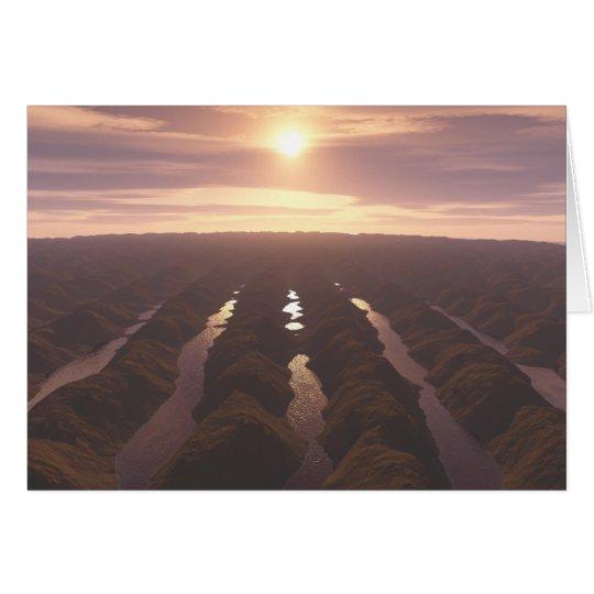 Sonnenuntergang Grußkarte