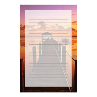 Sonnenuntergang-Himmel Briefpapier