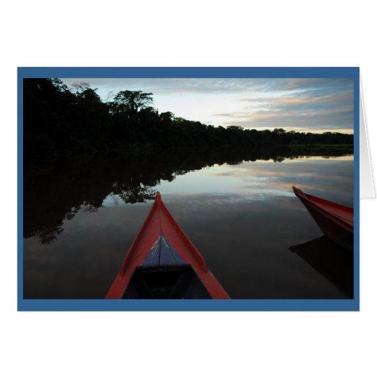 """Sonnenuntergang im Amazonas "" Grußkarte"