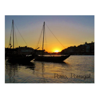Sonnenuntergang im Frühjahr, Porto Portugal Postkarte