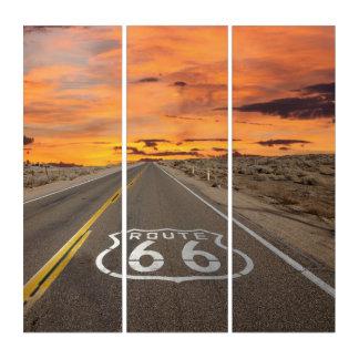 Sonnenuntergang in Arizona auf Wand-Kunst des Triptychon