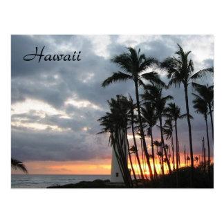 Sonnenuntergang in Hawaii Postkarte