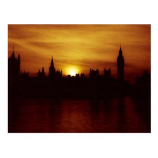 Sonnenuntergang in London-Postkarte Postkarte