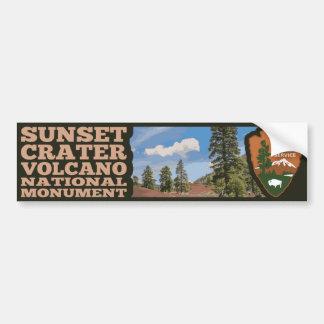 Sonnenuntergang-Krater-Vulkan-nationales Monument Autoaufkleber