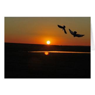 Sonnenuntergang mit dem Raben und dem Adler Karte