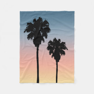 Sonnenuntergang-Palme-Fleece-Decke Fleecedecke