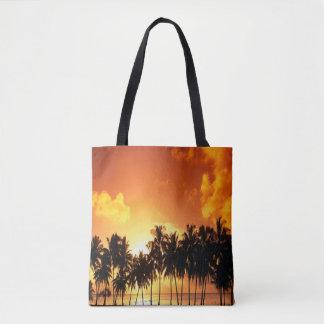 Sonnenuntergang-Palmen-Taschen-Tasche Tasche