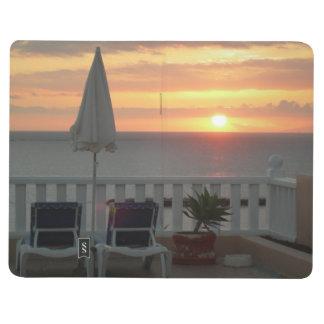 Sonnenuntergang-Reise-Zeitschrift Taschennotizbuch