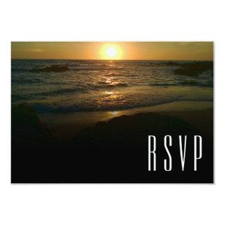 Sonnenuntergang-Strand-Hochzeit UAWG Karte