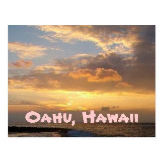 Sonnenuntergang-Strand, Oahu Postkarte