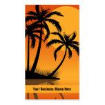 Sonnenuntergang-Strand-tropische Visitenkarten Vorlage