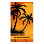 Sonnenuntergang-Strand-tropische Visitenkarten
