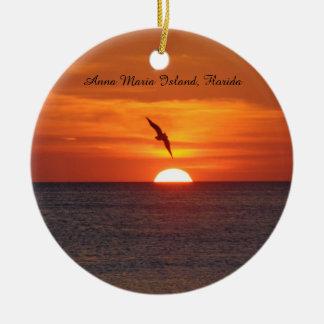 Sonnenuntergang-Strandverzierung Keramik Ornament