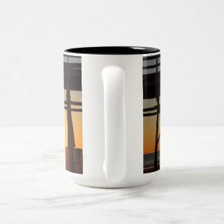 Sonnenuntergang-Tasse Zweifarbige Tasse