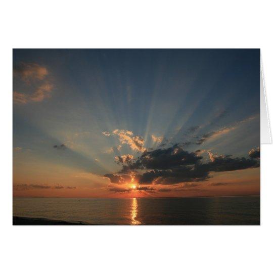 Sonnenuntergang-Träume Grußkarte