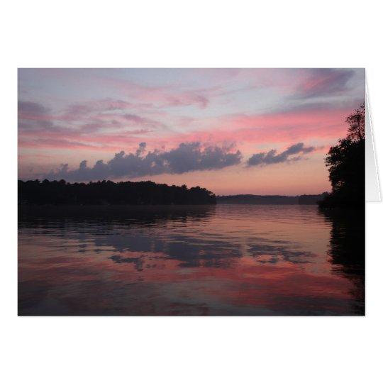 Sonnenuntergang über Cazenovia See Grußkarte