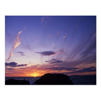 Sonnenuntergang über Cornwalls Atlantik Postkarte