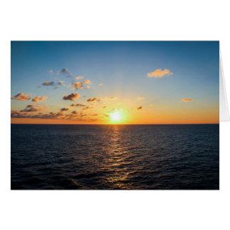 Sonnenuntergang über dem Atlantik Karte