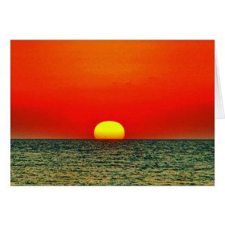Sonnenuntergang über dem MED Mitteilungskarte