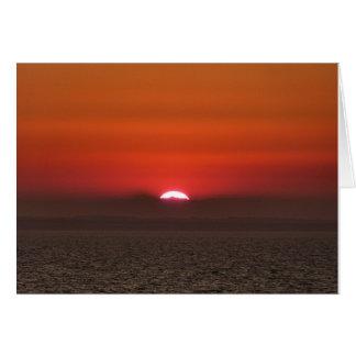Sonnenuntergang über dem Ozean Mitteilungskarte