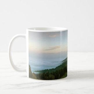 Sonnenuntergang über den Wolken Kaffeetasse
