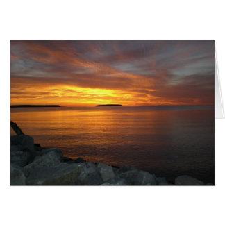 Sonnenuntergang über der Bucht Karte