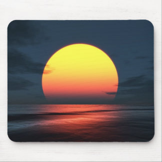 Sonnenuntergang über Ozean Mousepads