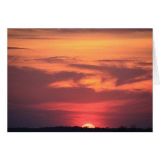 Sonnenuntergang über Ozean-Stadt-Bucht ~ NJ Mitteilungskarte