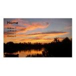 Sonnenuntergang und Boot Visitenkarten