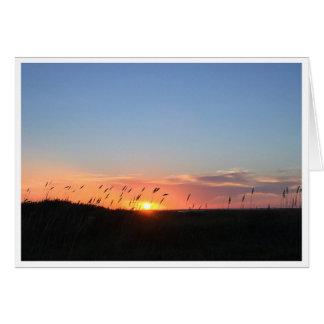 Sonnenuntergang und Seehafer auf Matagorda Strand Karte