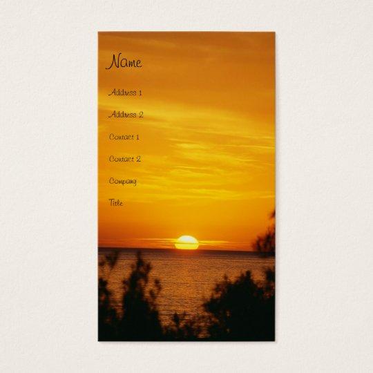 Sonnenuntergang-Visitenkarte Visitenkarte