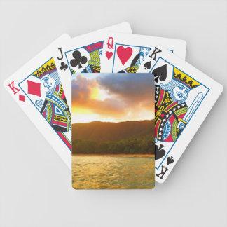 Sonnenuntergang von der Palmen-Bucht-Anlegestelle Bicycle Spielkarten