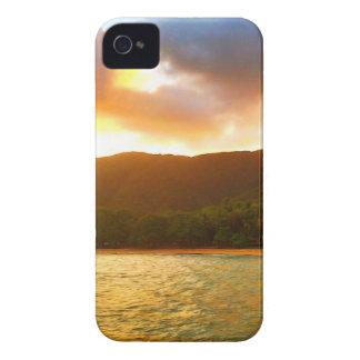 Sonnenuntergang von der Palmen-Bucht-Anlegestelle iPhone 4 Hülle