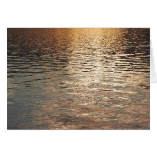 Sonnenuntergang-Wasser Grußkarte