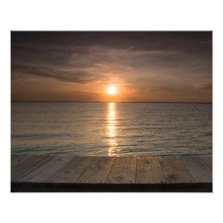 Sonnenuntergang weg des Docks Fotografischer Druck