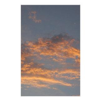 Sonnenuntergang-Wolken Briefpapier