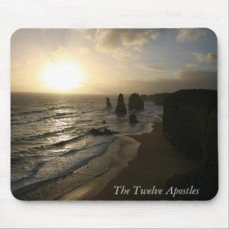 Sonnenuntergang, zwölf Apostel, große Ozean-Straße Mauspads