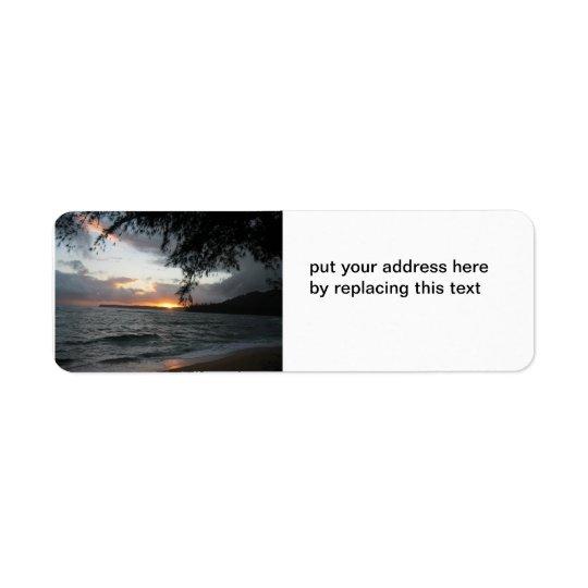 SonnenuntergangAdressen-Etiketten Rücksende Aufkleber