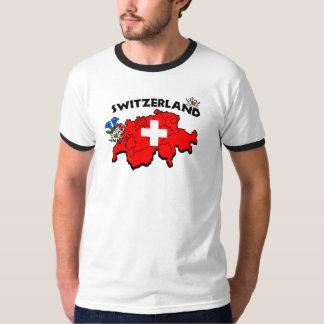 Sonnerie suisse de carte t-shirt