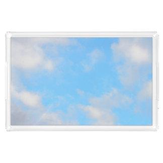 Sonnige blaue Himmel tägliche Staycation Acryl Tablett